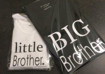 Bedrukte t-shirts little & big brother