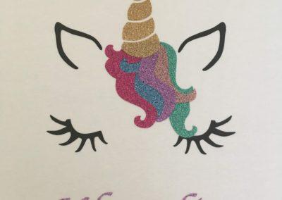 Bedrukte t-shirt unicorn