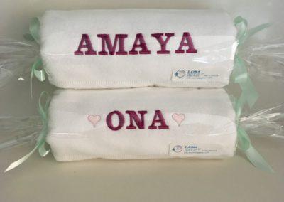 Borduren van handdoek en washandjes